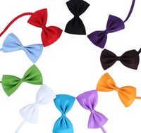 Wholesale 200PCS Pet Dog Cat Bowknot Cute Fashion Pet Bandanas Tag For Boy Girl Fit Collar Pet Accessory Color Mix Order