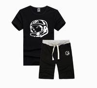 Wholesale new summer fashion print mens t shirt Streetwear bbc Rock Skateboard Hip Hop set men top