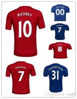 Wholesale Thailand Quality Season Custom Soccer Jerseys Football Jerseys De Gea Ibrahimovic Rooney MARTIA Memphis MKHITARYAN POGBA