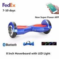 app mobile phone - Bluetooth Speaker inch Hoverboard Smart Balance Wheel Mobile Phone APP Control Electric Scooter UL Certified With Wheels and LED Light