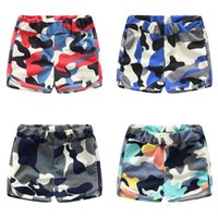 baby boy camo - 2016 Summer boys camo beach shorts cotton knitted comfort elastic mini shorts for baby boy Homewear elastic wasit multi colors