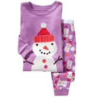 baby nightgown patterns - Children s Christmas Pajamas Set Years Girls Pajamas Cartoon Snowman Pattern Kids Clothing Set Boys Sleepwear Baby Pijama