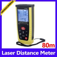 80m ±1.5mm 120*50*29mm Laser measurement tools 20 measurements storage 80M laser distance meter MOQ=1 free shipping