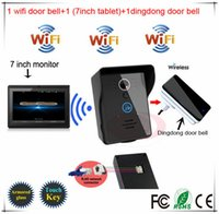 android tablet phone app - Three years warranty Android IOS App WiFi Video Door Phone One inch tablet One inner door bell