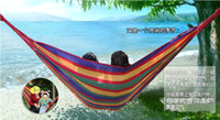 Wholesale Outdoor leisure single hammocks made of canvas for Traveling camping Summer cool tools Student indoor room swing