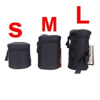 Wholesale Waterproof Padded Protector Fly Leaf Camera Lens Bag Case Pouch for DSLR Nikon Canon Sony Lenses Black Size S M L
