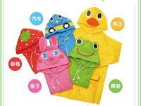 Wholesale Rain Coat Kids Raincoat Rainwear Rainsuit Waterproof Auto Duck Bunny Frog
