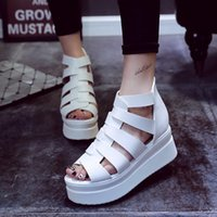 ankle wrap platform - The most fashionable sexy summer designer shoes ultra high han edition leisure fish mouth sandals with thick bottom platform shoes waterproo