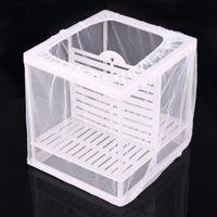 Wholesale Aquarium Fry Baby Fish Tank Guppy Breeding Breeder Trap Box Nursery Hatchery Net