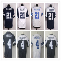 Wholesale NIK Elite Football Stitched Cowboys Draft Ezekiel Elliott Prescott BRYANT WITTEN Stitched Elite Football Jerseys Mix Order