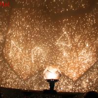 al por mayor proyector de láser noche-Nueva estrella asombrosa caliente de la luz del proyector de Astrostar Estrella laser proyector científico cosmos de la lámpara de la lámpara del día de fiesta romántico de las tarjetas del día de San Valentín SV001487