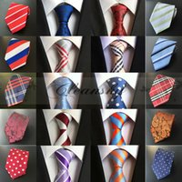 Wholesale 99 Styles Assorted Casual Mens Tie Neckties Silk Fashion Classic Handmade Wedding Neck ties High Quality Paisley Stripes Plaids Dots M326