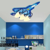 airplane ceiling light - Creative children s room ceiling light bedroom cartoon airplane baby boy Kindergarten room ceiling lamp