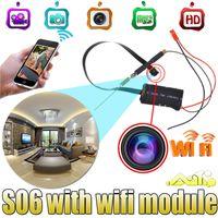 Wholesale S06 HD P Mini Camera Video Wifi P2P DIY Module Mini DV DVR Wireless IP Security Surveillance Camera For PC Tablets Smartphones