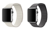 bands stones - 1 Original Design Magnetic Leather Loop For Apple Watch Band Bracelet Strap New Color Storm Gray Grey White Stone With Adapters