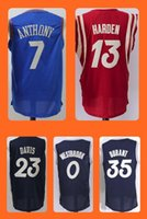 Wholesale Men s Carmelo Anthony James Harden Anthony Davis Russell Westbrook Kevin Durant Christmas Edition jerseys S
