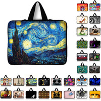 Wholesale 7 quot Van Gogh Tablet Sleeve Case Mini PC Laptop Bag Computer Handbag Soft Protector Cover