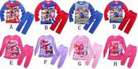 Wholesale 2016 Kids pajamas clothes new Cotton Cartoon Long Sleeve Pants Homewear Suit paw patrol snow slide Children Baby Boys Girls Clothing