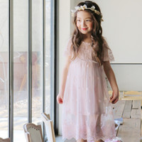 beautiful kids clothes - 2016 summer korea style kids clothing princess dress beautiful fol suit lace dress veil fairy dress