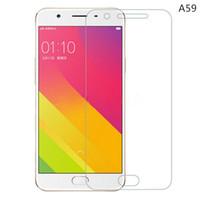 Oppo chinois France-Oppo A59 HD Clear Protecteur d'écran en verre trempé 2.5D Protecteur d'écran Edge pour les marques chinoises pour Iphone pour Samsung galaxie - YH0147