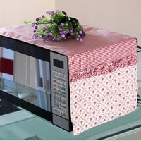 Wholesale Quality garden fabric microwave oven dust cover towels high grade anti oil microwave oven protective cover