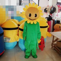 adult sunflower costumes - Customized Adult Size Plants V S Zombies Sunflower Cartoon Mascot Costumes EVA Clothing Walking Cartoon Doll Dress New Year Party Performin