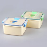 bento dividers - 2016 China Factory YOOYEE Brand Promotional Gift BPA Free Plastic Bento Boxes for Sale with Divider Moveable