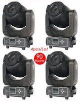 Wholesale 4pc Pro W gobo prism LED Spot Moving Head DJ Stage Party Disco Lights