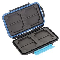 Wholesale New JJC MC Anti shock Waterproof DC Memory Card Case Holder Hard Storage Box for CF SD ABS Rubbe