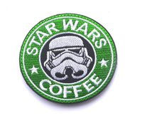 Wholesale 2016 Embroidery Star Wars Coffee Patch Cloth D Tactical Patches Army Morale Armband Military Combat Badge