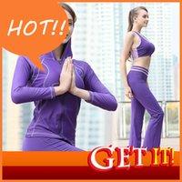 Wholesale Jin Xueer Yoga serve Bodybuilding serve woman vest Loose coat pants Suit Outdoor sport Run three piece Morning Jogging