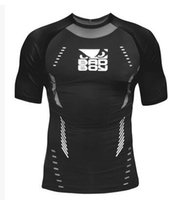 Wholesale The bad boy wear tight fitting short sleeved clothing elastic MMA Fighting Fighting sports body sculpting