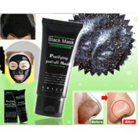 Wholesale 50ml Suction Black Mask Blackhead Remover Face Mask Deep Cleaning Purifying Mask Nose Black Head Pore Strip Blackhead Remover