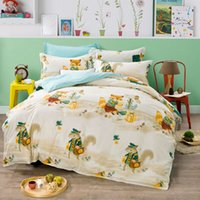 bedspreads and coverlets - Squirrel and fox combing cotton linens bedding sets comforter set Queen Double size sheets sets coverlet bedspread set
