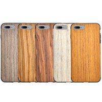 apple wood for sale - hot sale cell phone case accessories soft flexible nature real wood TPU hybrid case for iphone plus