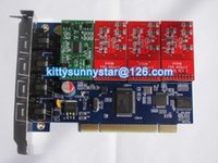 Wholesale TDM400P Asterisk card with FXS FXO Module
