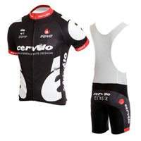 Short bicycle wear cycling shorts - Cheap Men s Short Cycling Suit CLASSIC Cervelo Black color Scorpion Bike Jersey Bib Shorts with Gel pad Short Sleeve Bicycle wear maillot