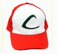 Wholesale 2016 Hot Sale Anime Cosplay Pocket Monster Ash Ketchum Baseball Trainer Cap Hat Summer Cap Gift Unisex Mesh Pock mon Go Ball Hat