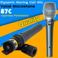 beta computer - Quality BETA87C BETA C C Wired Dynamic Microphone Professional Vocal Mic Beta87A Beta A A Cardioid Moving Coil Mike