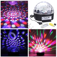 Wholesale The magic of music LED W stage lights RGB x disco party DJ lighting remote flash mini laser