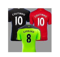 best clothes men - Top quality Clothing New liverpooles home COUTINHO away GERRARD Best quality liverpooles soccer shirts Soccer shirt LVP
