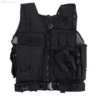 Wholesale Tactical Vest Cool Mens Hunting Vest Outdoor Black Training Military Army Swat Vests Men Waistcoat Protective Equipment