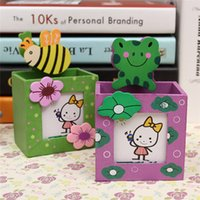 Wholesale Auto pencil case student pencil box ideas tin box two layers of pen boxes For Children Girls Boys FREE