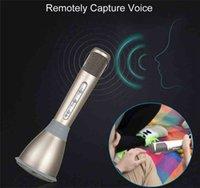Wholesale 2016 K068 Wireless Microphone Bluetooth Micropone Karaoke KTV family outdoors for Mobile Phone PC Mini Karaoke Player