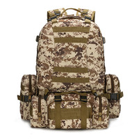 Wholesale Mens Camping Bag Oxford Outdoor Backpack Camouflage Hiking Pack Tactical Large Backpack