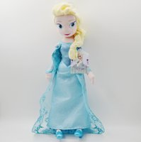 Wholesale 50CM High quality The Movie Frozen Plush Princess Elsa and Anna Plush Dolls Great Toys For Children