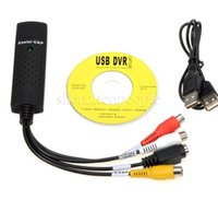 Wholesale New Video Audio AV Capture Support EasyCAP USB TV DVD VHS for WIN WIN