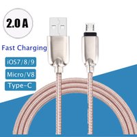 amp charge - Zinc alloy M FT amp Micro USB Data Sync Charging Cable For Samsung galaxy S7 s7 edge for Huawei Charger cable
