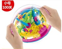 Wholesale 3d maze ball three dimensional flying saucer magic ball intelligence toys decompression toys