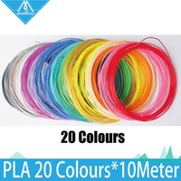 Cheap 20rolls lot 10M 3D Printer PLA Filament samples 1.75mm 20 colours Accuracy + - 0.05mm MakerBot RepRap UP Mendel 3D Pen